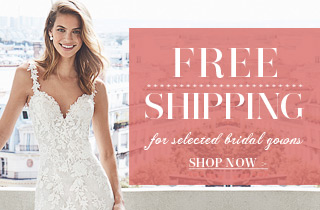 Free Shipping For Selected bridal Gowns